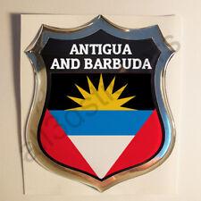 Pegatina Antigua y Barbuda 3D Escudo Emblema Vinilo Adhesivo Resina Relieve Moto