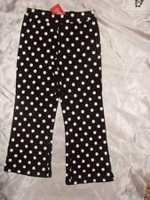 NWT GYMBOREE ~ HOLIDAY PANDA black white polka dot knit pants ~ girls 5 5T