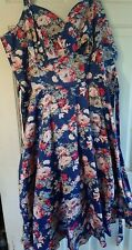 New Joe Browns Summer Blue Floral Swing Dress size 18
