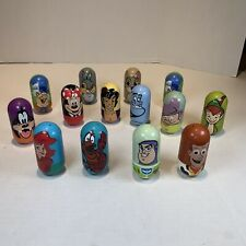 15 Kellogg Disney Weeble Wobblers Bean Beanz Lot Arial Aladdin Toy Story Minnie