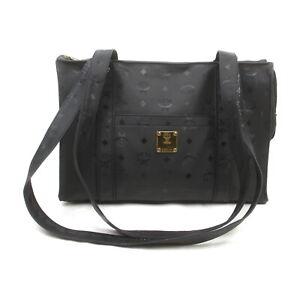 MCM Tote Bag  Black PVC 1525379