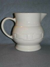 Longaberger Pottery Large Pitcher Lg Utensil Holder Wov Trad Ivory White Usa Euc