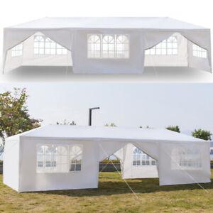 9x3m Heavy Duty Canopy Tent Garden Waterproof Wedding Gazebo Marquee w/8 Sides