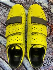Rapha Sulfur Yellow Reflective Climbers Road Shoe Size 40 Carbon Sole Very Nice!