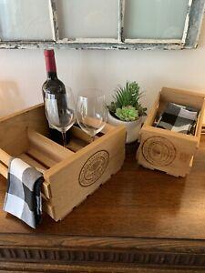 Napa Valley Box Company Wine and CD box décor Boho Wood Wine boxes