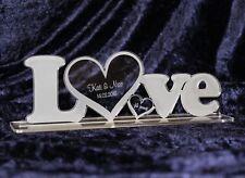 """Acryl Aufsteller """"LOVE""""  mit Wunschgravur Liebe Valentinstag Hochzeit Geschenk"""