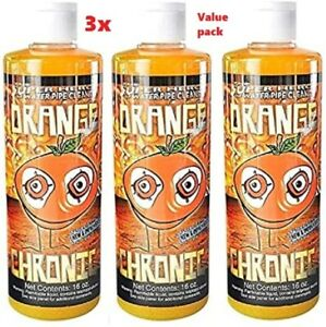 Orange Chronic Cleaner 16 oz Glass Pipe Cleaner Pack Of 3 Free Shipping