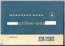 Betriebsanleitung Mercedes Benz 220/220 S, Daimler-Benz AG Stuttgart