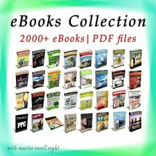 eBooks Package 2000 Collection 6 GB with Master Resell Rights PDF/ Free Shipping