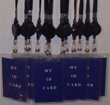 6Pcs Neck Strap Retractable Reel Vertical ID Badge Card Holder Lanyard(Name Tag)