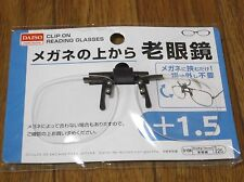 DAISO JAPAN Optical Clip-on Flip-up Magnifying Reading Glasses F/S  +1.50