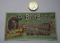 VERY RARE THE BELLE BOUQUET ROSMARINE PERFUME LABEL -EDNA MAY USA FAMOUS ACTRESS