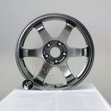 4 PCS ROTA WHEEL GRID 17X9  5X114.3 42  73 HYPERBLACK