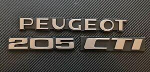 Peugeot 205 CTI Reproduction Rear Badge Set  Complete Set