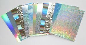 Kanban 24 x Silver Holographic Mirri Mats Craft Mirror Card
