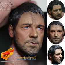 "1/6 Scale Russell Crowe Gladiator Head Scuplt Carving Model F 12"" Httoys Body"