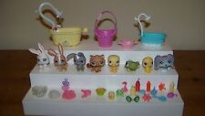 Littlest Pet Shop Petshop Animals Lot Rabbits Duck Bath Shower Accessories Lot b