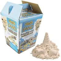 Kids 600g Magic Motion Sand Play Set Mouldable Children's 3pc Sculpting Tools