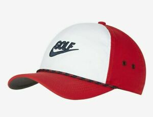 Nike Aerobill Classic99 Adjustable Adult Unisex Red White Golf Hat BV8229-657
