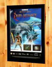 Baldur's Gate Dark Alliance Small Poster / Old Ad Page Framed GameCube PS2 Xbox