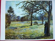 1 AK Glückwunschkarte PRO INFIRMIS  Camille Pissaro Landschaft  Gelaufen 1966