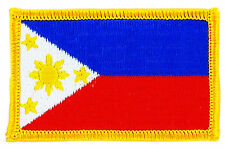 FLAG PATCH PATCHES philippines FILIPINO  IRON ON COUNTRY EMBROIDERED WORLD FLAG