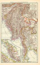 1895 Grand Victorien Carte ~ Burma & The Malay Péninsule ~ Malacca Sumatra Siam