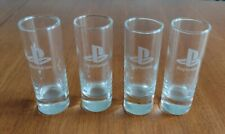 More details for rare playstation branded shot glasses x 4. sony staff gift.