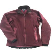 Arcteryx Womens Large Sherpa Fleece Lined Soft Shell Purple Full Zip Jacket