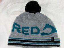 RED MOUNTAIN BC Canada BULA  SKI Winter Beanie Hat Toque GRAY GREEN BLACK LARGE