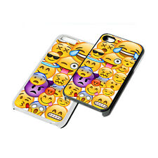 Emoji Face Design Phone Case Cover for iPhone 4 5 6 iPod iPad Samsung generation