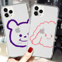 Case For iPhone 11 Pro Max XS XR X 8 7 6 6s Plus Cute Pattern Clear Slim Cover