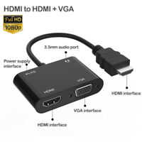 hdmi to vga and 3.5MM audio splitter 1080P Digital cable Male To Famale Adapters
