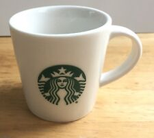 2015  Starbucks 3oz Demi Espresso Mini Cup Mug White Green Mermaid Siren Logo