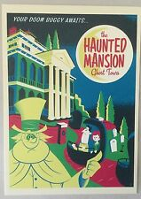 "Disney WONDERGROUND Postcard HAUNTED MANSION ""Your Doom Buggy Awaits"" by Perillo"