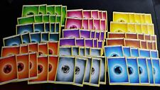 Pokemon 90 BASIC ENERGY CARDS LOT: 10 OF EACH TYPE, Metal, Darkness Sun and Moon