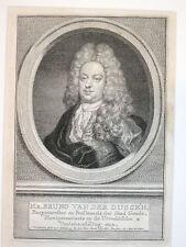 Jacob Houbraken original engraving of Bruno Van Der Dussen - 1773