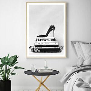 NEW Runway Reads Unframed Premium Wall Art Print   Black And White Artwork Decor