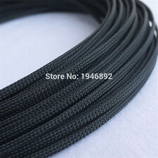 Black 4mm Braided PET Expandable Sleeving High Density Sheathing Cable Sleeve 1M