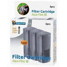 Superfish Aqua Flow 50 Easy Click Cartouche de Filtre de remplacement (3 Pcs)
