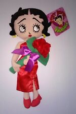 Betty Boop Valentine's Plush with Red Dress and a Rose