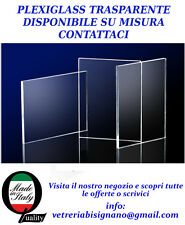 LASTRA PLEXIGLASS TRASPARENTE 3 mm MISURA 130 X 50 TAGLIO SU MISURA CONTATTACI