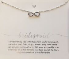 Bridesmaid Infinity Necklace 925 Sterling p Crystal Infinite Jewellery Forever A