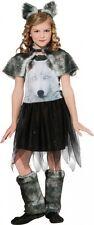 Girls Twilight Wolf Costume Grey Wolf w Furry Leg Warmers Size Small 4-6