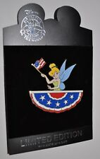 New Rare Disney Pin Trading LE125 Lot 117 LE 125 TinkerBell US Flag Patriot