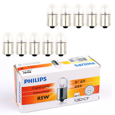 New 10pcs PHILIPS 12821 R5W 12V 5W BA15s Premium Vision Signaling Lamp Bulbs AT1