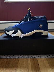 Nike Air Jordan XIV 14 Retro Low Laney Blue Black Yellow 807511-405 Sz 11
