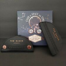 Ted Baker London Key Holder and Headphone Cable Wrap with Gift Box New