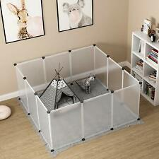 30 Inch Panels Tall Dog Playpen Large Crate Fence Pet Play Pen Exercise Cage