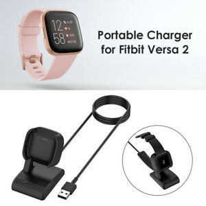 Charger Dock Cradle 1m USB Charging Cable for Fitbit Versa 2 Smart Watch UK